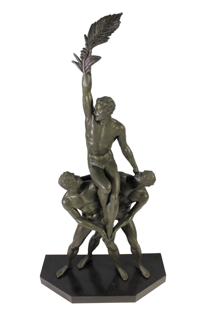Pierre Le Faguays Art Deco Bronze Trophy Trophee Group