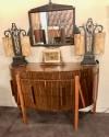 Art Deco Demi Lune English Buffet Storage Cabinet