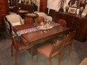 French Art Deco U Shaped Base Dining Table