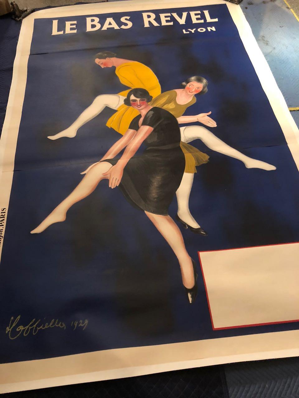 Original Large Le Bas Revel Vintage Poster Cappiello