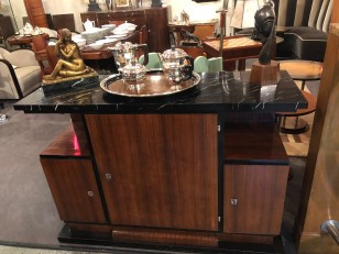 Art Deco Marble Topped Buffet Cabinet
