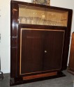 French Art Deco Display Cabinet in Macassar by Leleu