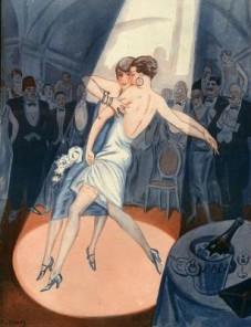 Duo Dancing in Paris 1920s