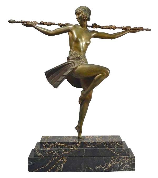 Dancer with Thyrsus by Pierre Le Faguays Art Deco