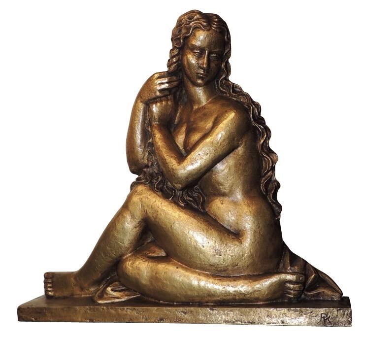 Art Deco Golden Girl Sculpture