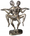 Art Deco Silver Sculpture of Dancing Duo by I.Gallo