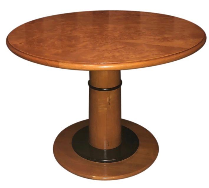 Art Deco Custom Round Coffee Side Table