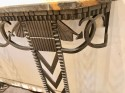 Art Deco Iron and Marble Grand Console Geometric French Style