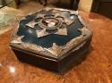 European Art Nouveau Art Deco Metal & Enamel Curiosity Box