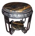 Art Deco Ironwork Table with Portoro Marble Top