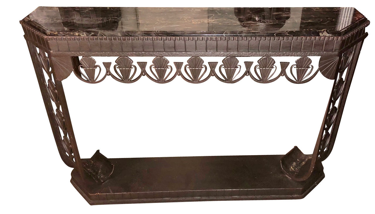 Art Deco Consoles For Sale: Side Tables, Iron, Wood, Custom, Hallway,  Entry, Chrome, Marble, Mirror