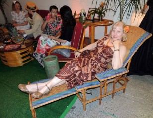 Art Deco Woven Wicker Chaise Longue