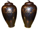 French Art Deco Pair of Urns by Frie Onnaing