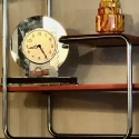 Czech Streamlined Tubular Chrome Table or Plant Stand