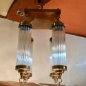 Petito Style Art Deco Chandelier Glass Tubes