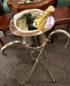 Art Deco Top Hat Silver Champagne Bucket and Stand