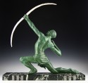 G. Darny  French Art Deco Archer Sculpture