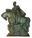 Art Deco Sculpture of a Woman on a Horse by Alphonse Darville