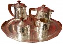 A Five-Piece French Art Deco Silver-Plated Tea and Coffee Service, 20th century. Marks: BB