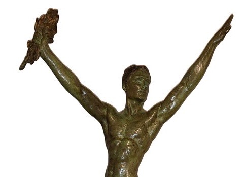 Demétre Chiparus Sculpture 'Victory' Tall Athletic Statue
