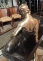 French Art Deco Golden Bronze Sculputure Gaston Beguin
