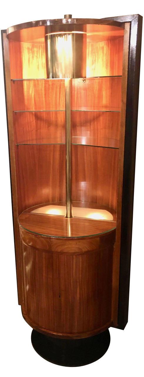 Art Deco Modernist Bar Display Storage Vitrine