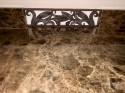 Art Deco Custom Iron and Marble Console Table