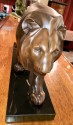 French Art Deco Sculpture of a Walking Lion by Max Le Verrier