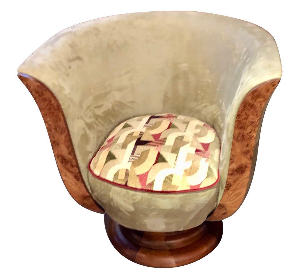 Art Deco Swivel Chairs Tulip Shape Just Added Art Deco