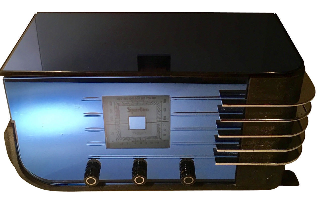 SPARTON  BLUE MIRROR RADIO 1936 ART DECO Walter Dorwin Teague MODEL 557