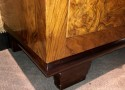 Art Deco Black Walnut Storage Bar Streamline Design