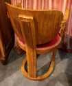 Art Deco Sculpted Wood Office or Side Chair