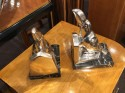 Toucan Birds Silver Bronzed Bookends by Louis Fontinelle