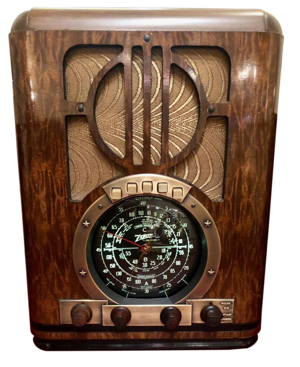 Zenith Antique (1937) 6-S-330 Tombstone Black Dial Tube Radio and Bluetooth