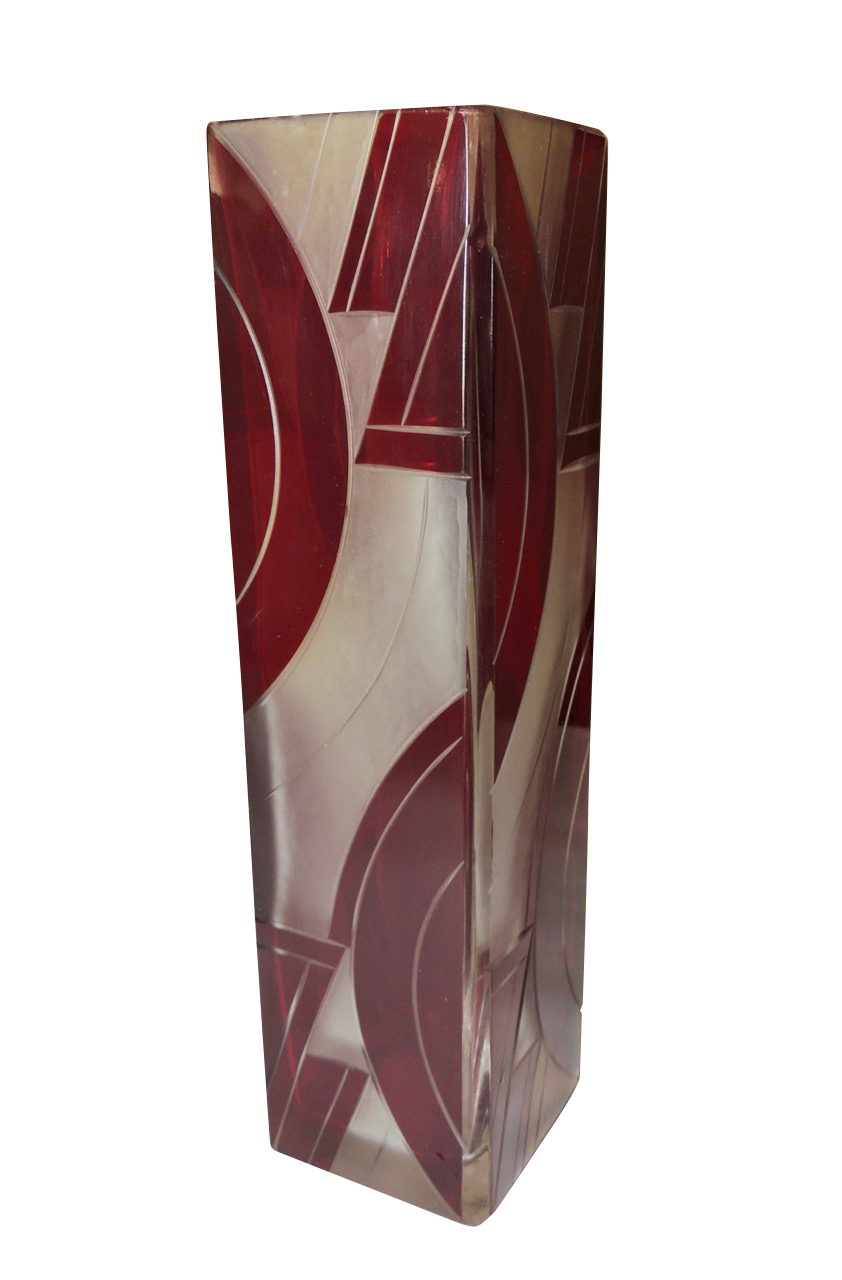 Art Deco Czech Glass Bud Vase by Karl Palda