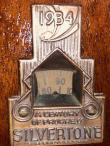 1933-1934 logo on radio