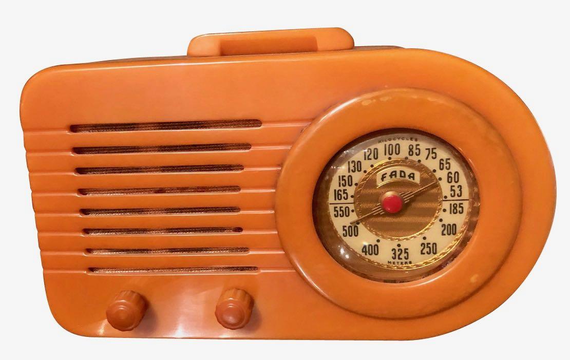 FADA Art Deco 1000 Catalin Butterscotch Bakelite Tube Radio Restored