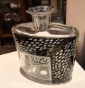 Art Deco Czech Decanter Glasses with Leopard Black Designs