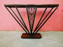 Art Deco Rosewood and Iron Console Table Unique