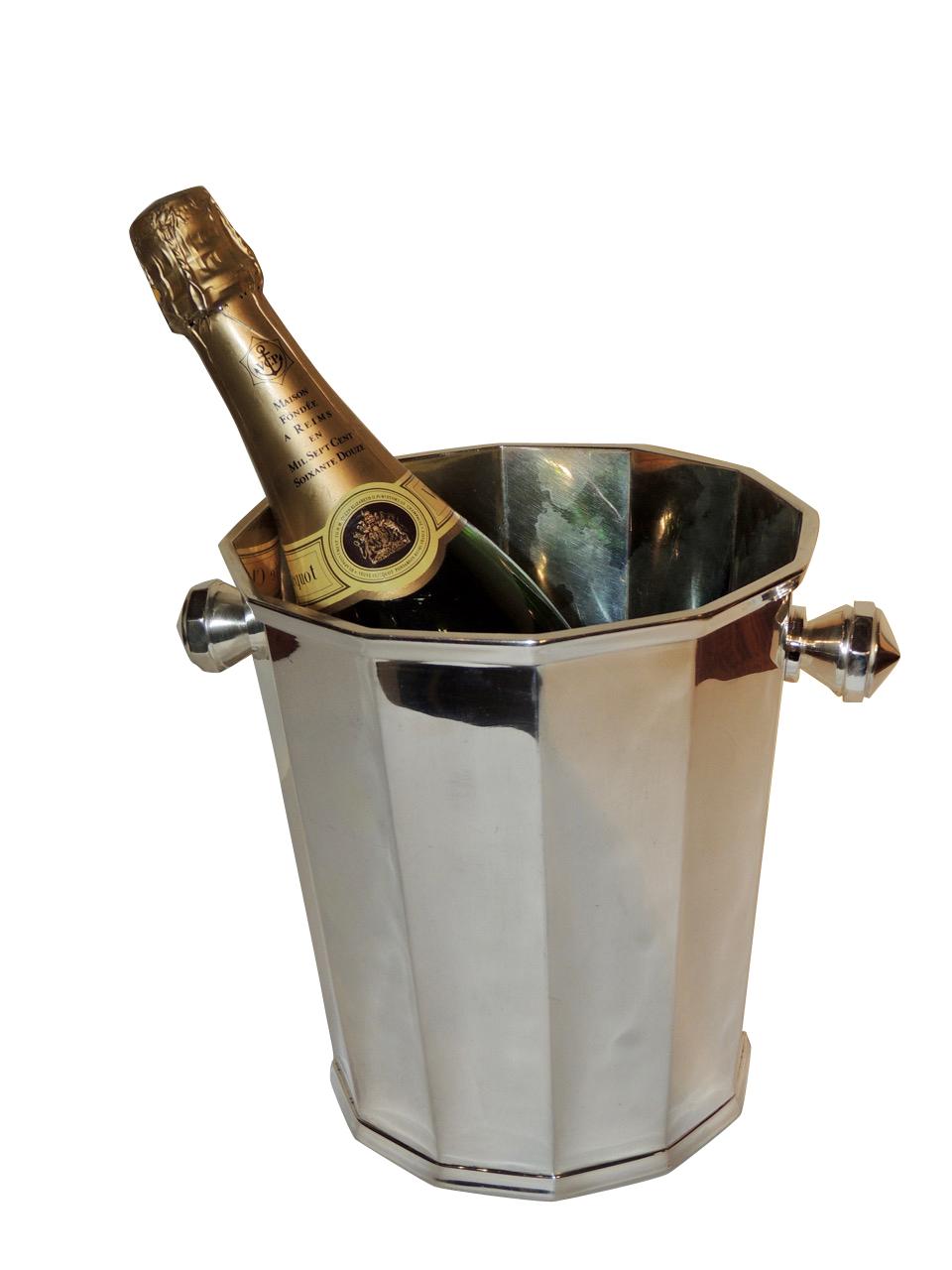Art Deco Silver Champagne Bucket