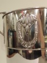 1920's Silver  Champagne Cooler with Repousee Floral Motif