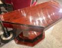 Rosewood Art Deco Console Triangular Ebony Accents