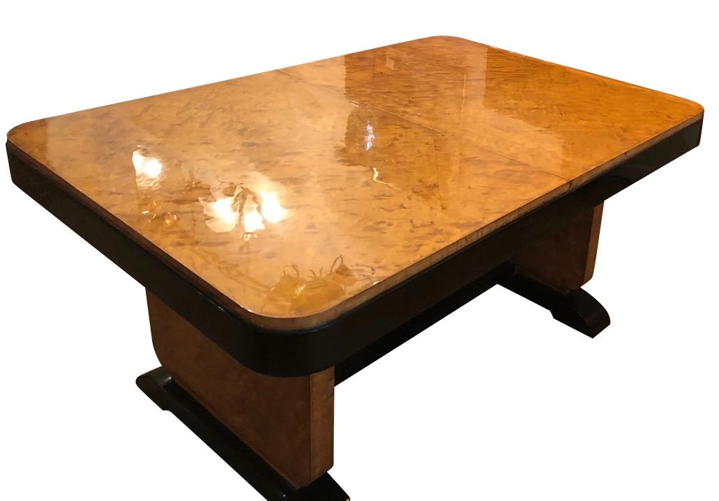 Art Deco Dining Room Wood Table With Matching Buffet