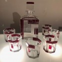 Czech Art Deco Whiskey Glass Decanter Set