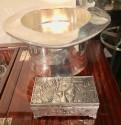 Art Deco Folies Bergère Silver Jewelry Cigarette Box French