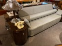 Art Deco Custom Sofa Day Bed with Storage Cabinets Macasar Wood