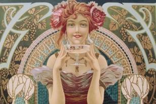 Art Nouveau Champagne Image