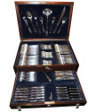 Complete Art Deco Silverware Service by  Plata Lappas in Cabinet