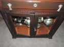 Complete Art Deco Silver Service for 12 by Plata Lappas in Cabinet
