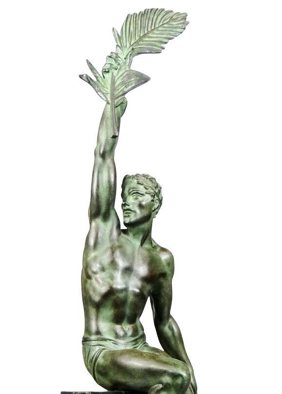 Pierre Le Faguays Gloire Fonte D Art Editions Max Le Verrier Art Deco Statue